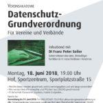 Infoabend über Datenschutz-Grundverordnung für Vereine im K.U.L.T. Hof bei Salzburg