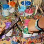 Malworkshop – Kinder der VS Mondsee malen für ein Schulbuch