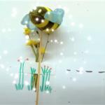 Biene erklärt den Weg zu nachhaltigen Verpackungsmaterialien